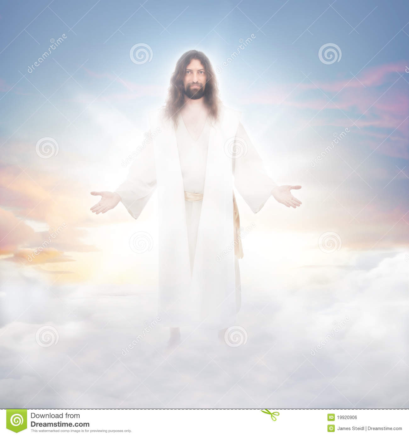 jesus in the clouds royalty free stock image image 19920906