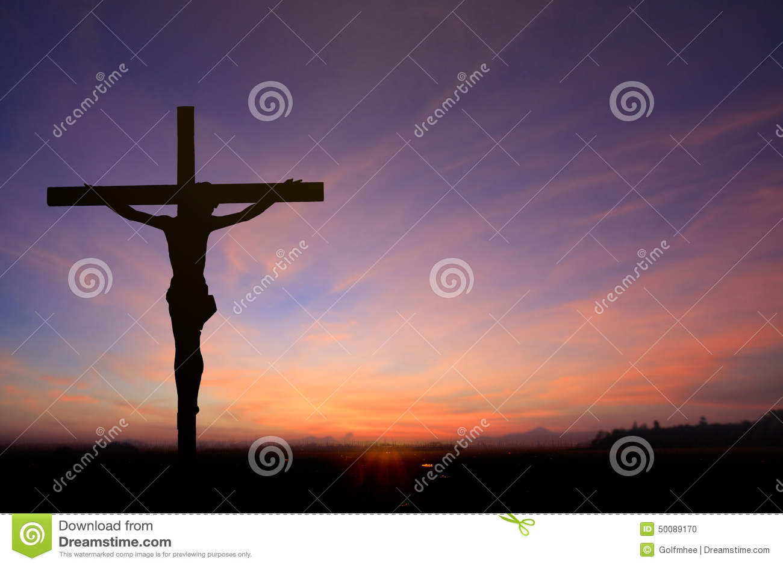 Jesus on Cross Background stock photo. Image of heaven - 50089170