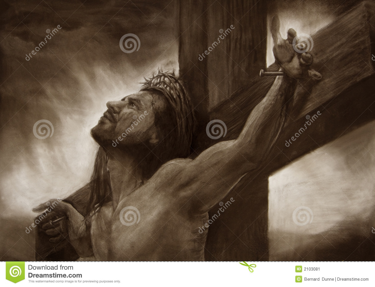 jesus on the cross calvary illustration 2103081 megapixl