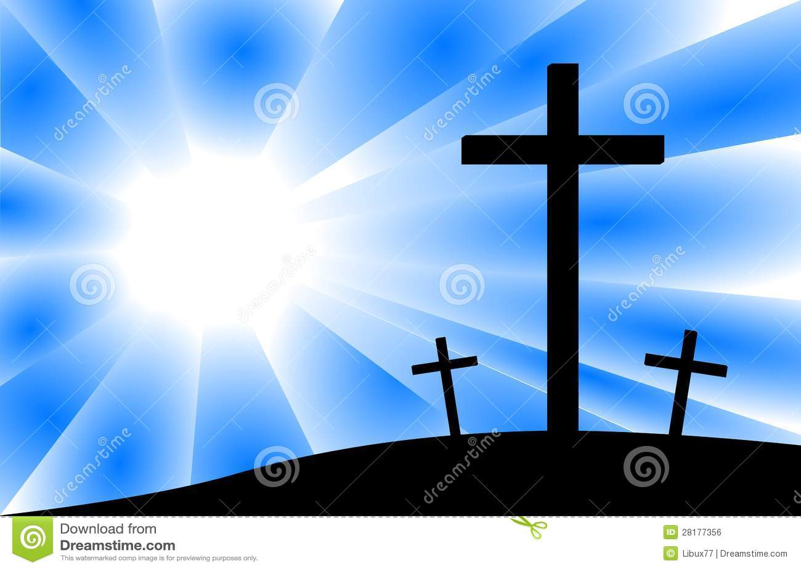 jesus crucifixion calvary scene three crosses royalty free stock