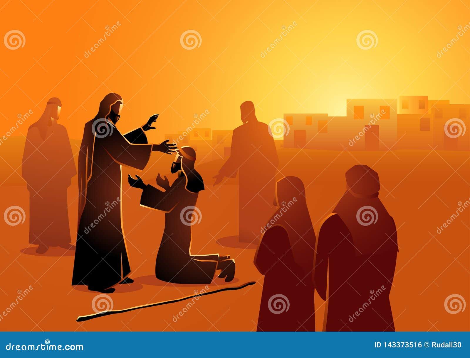 Jesus cura o homem cego