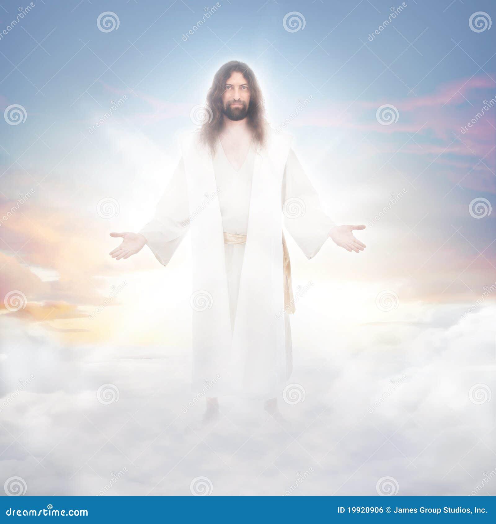 Jesus in de wolken