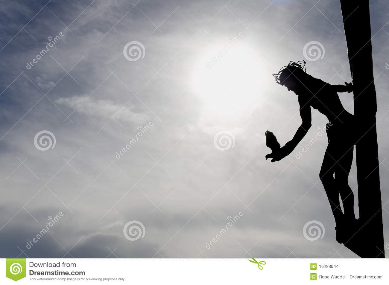 Jesus And The Dove Stock Images Image 16298044
