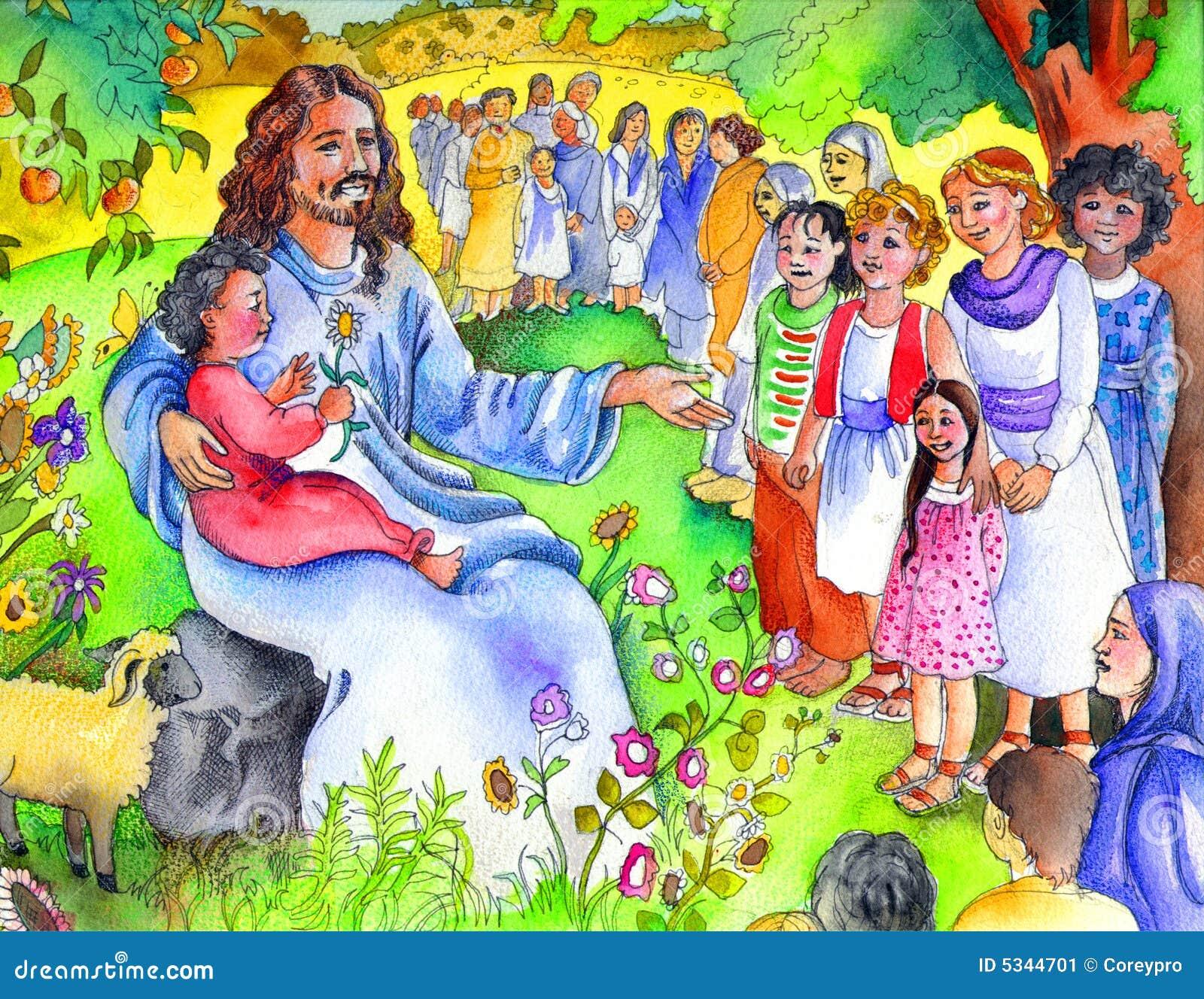 jesus en de kleine kinderen de kinderen de bijbel