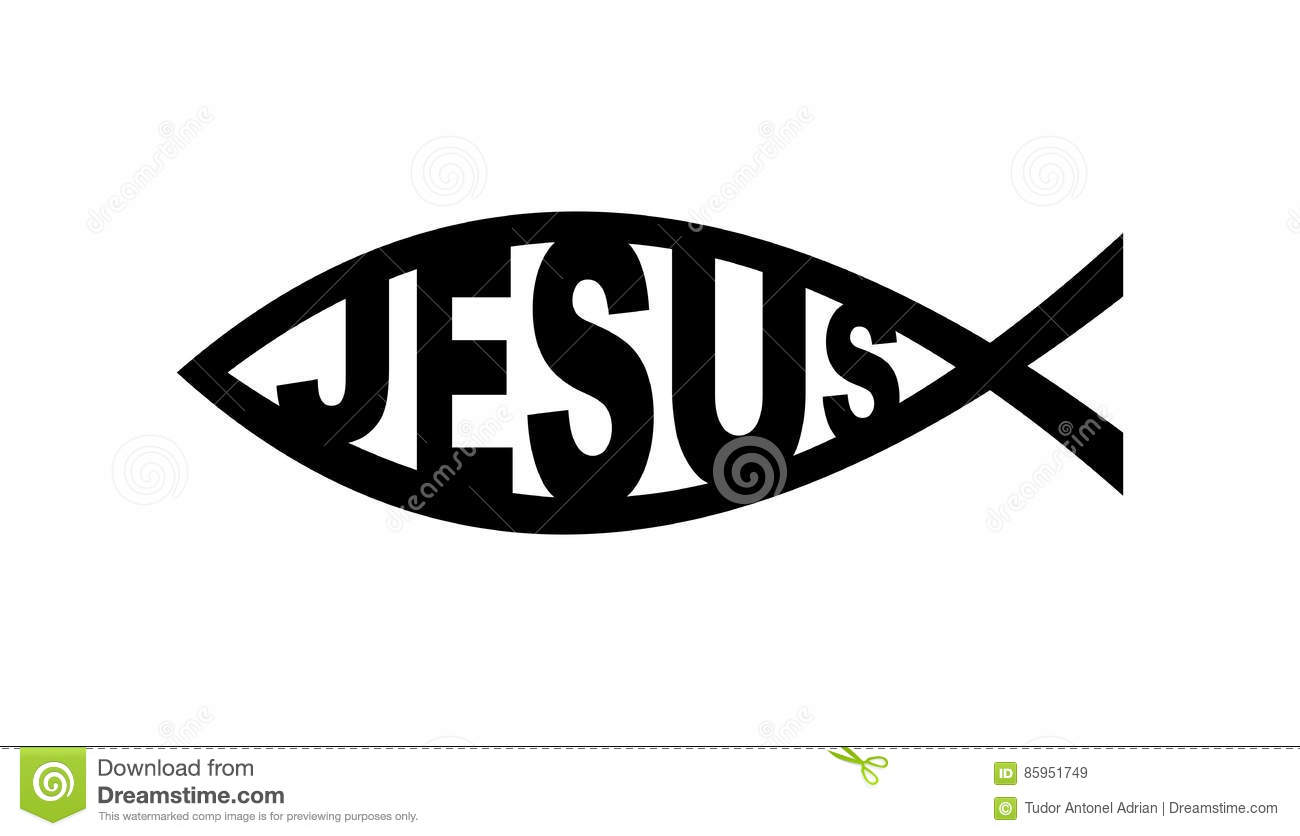 Jesus fish symbol stock illustration image of christian for Christian fish sign
