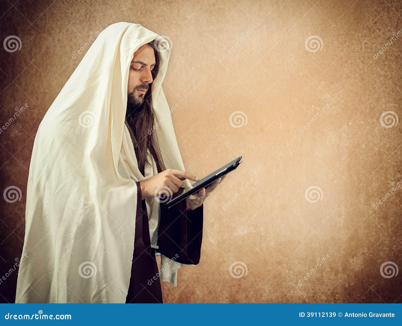 Jesus gebruikt de tablet
