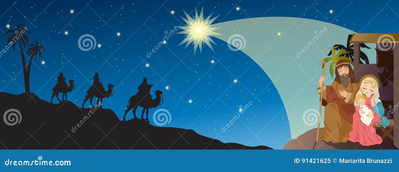 Jesus-Geburt Christi vektor abbildung. Illustration von weihnachten ...