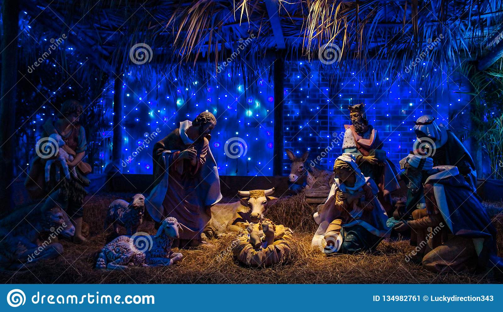 Jesus God Decoration On Christmas Day Lighting Hat Stock Image Image Of Christ Lighting 134982761