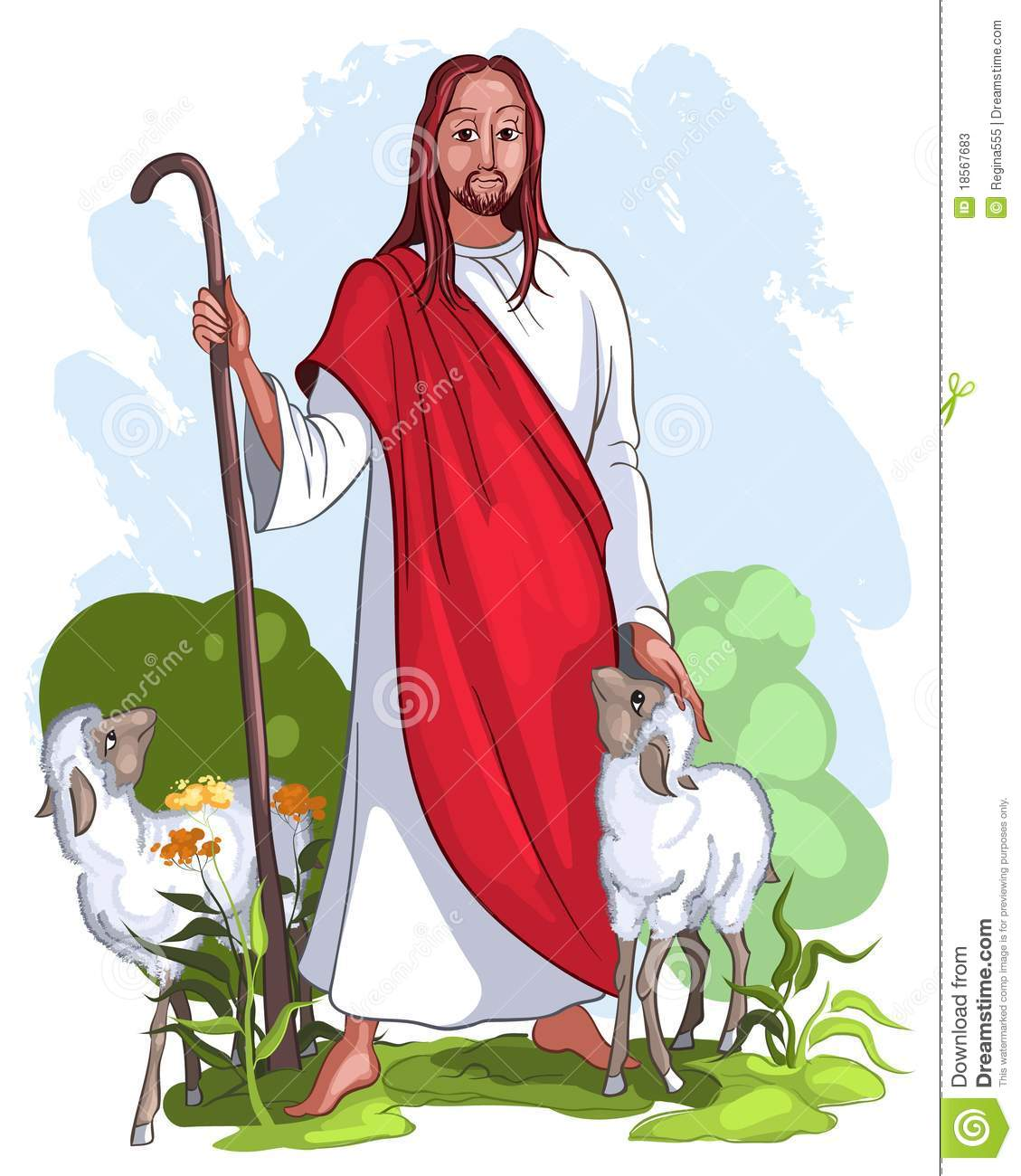 am the good shepherd giving the life for the sheep (John 10:11).