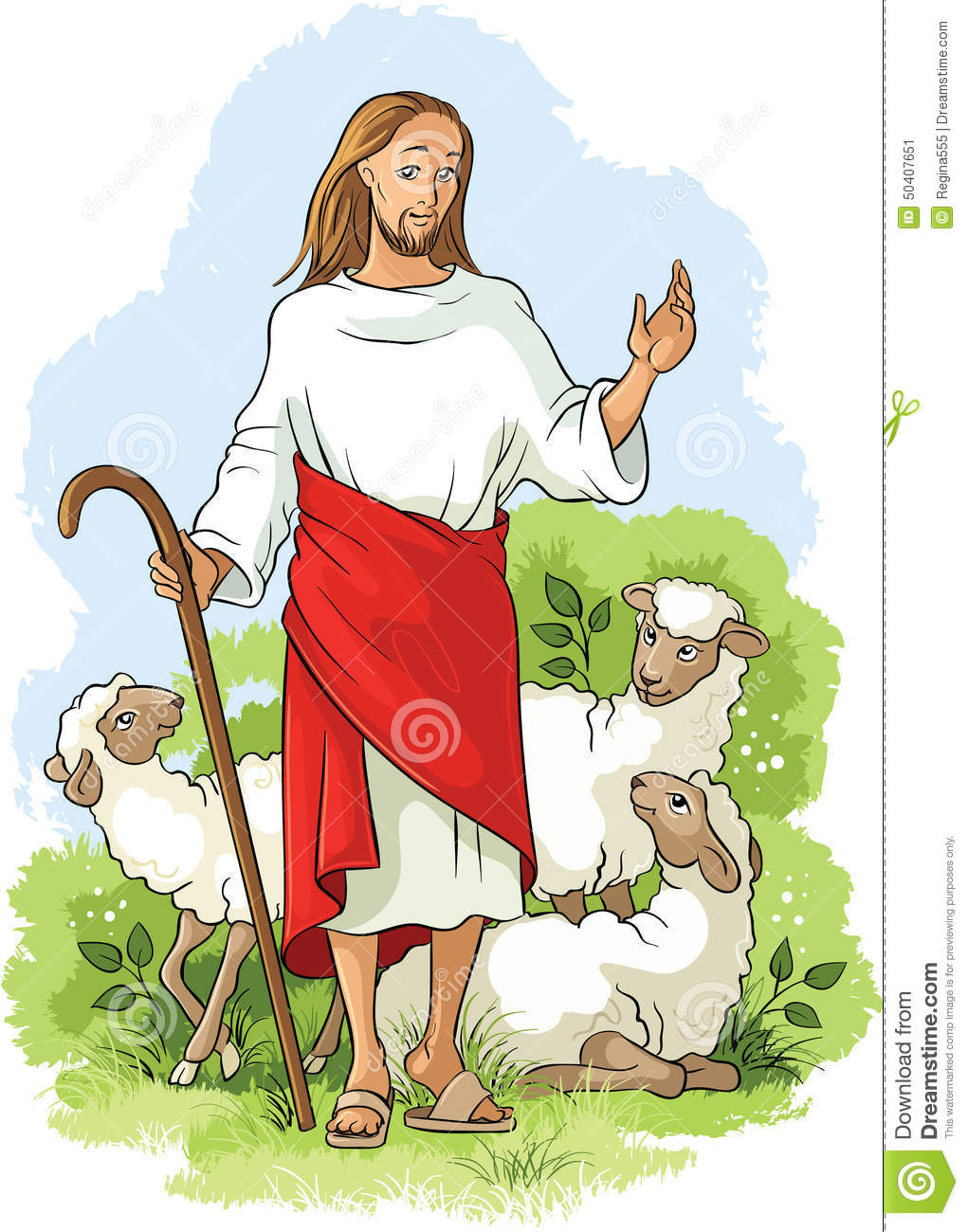Jesus Is A Good Shepherd Easter Christian Background