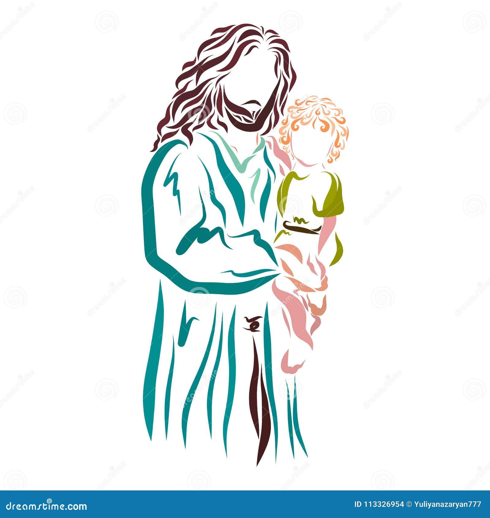 Jesus hält ein Kind