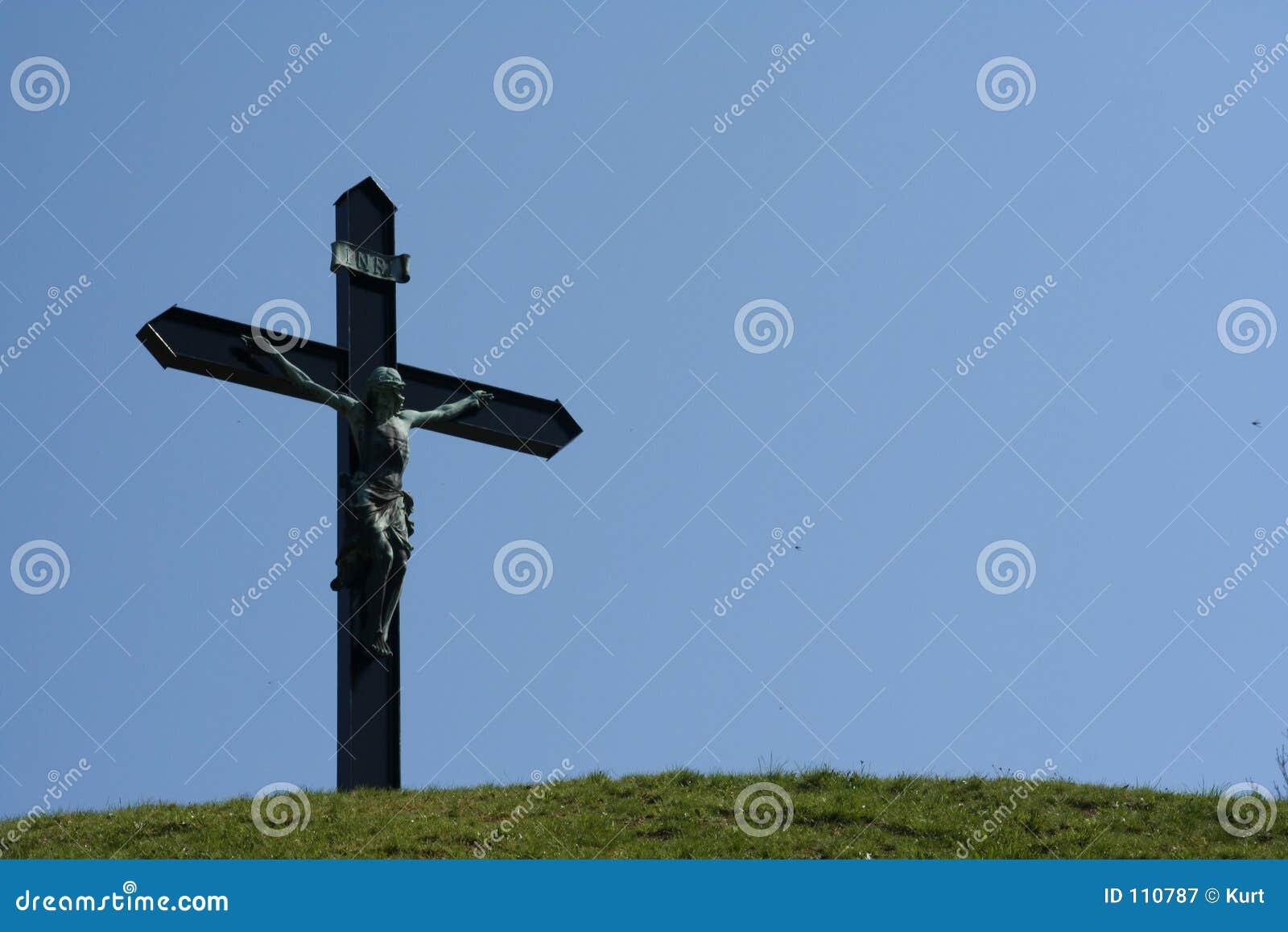 Jesus on hilltop