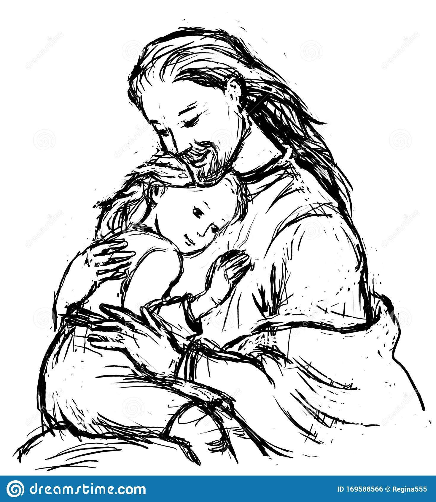 Jesus Little Girl Drawing Stock Illustrations – 87 Jesus Little Girl Drawing  Stock Illustrations, Vectors & Clipart - Dreamstime