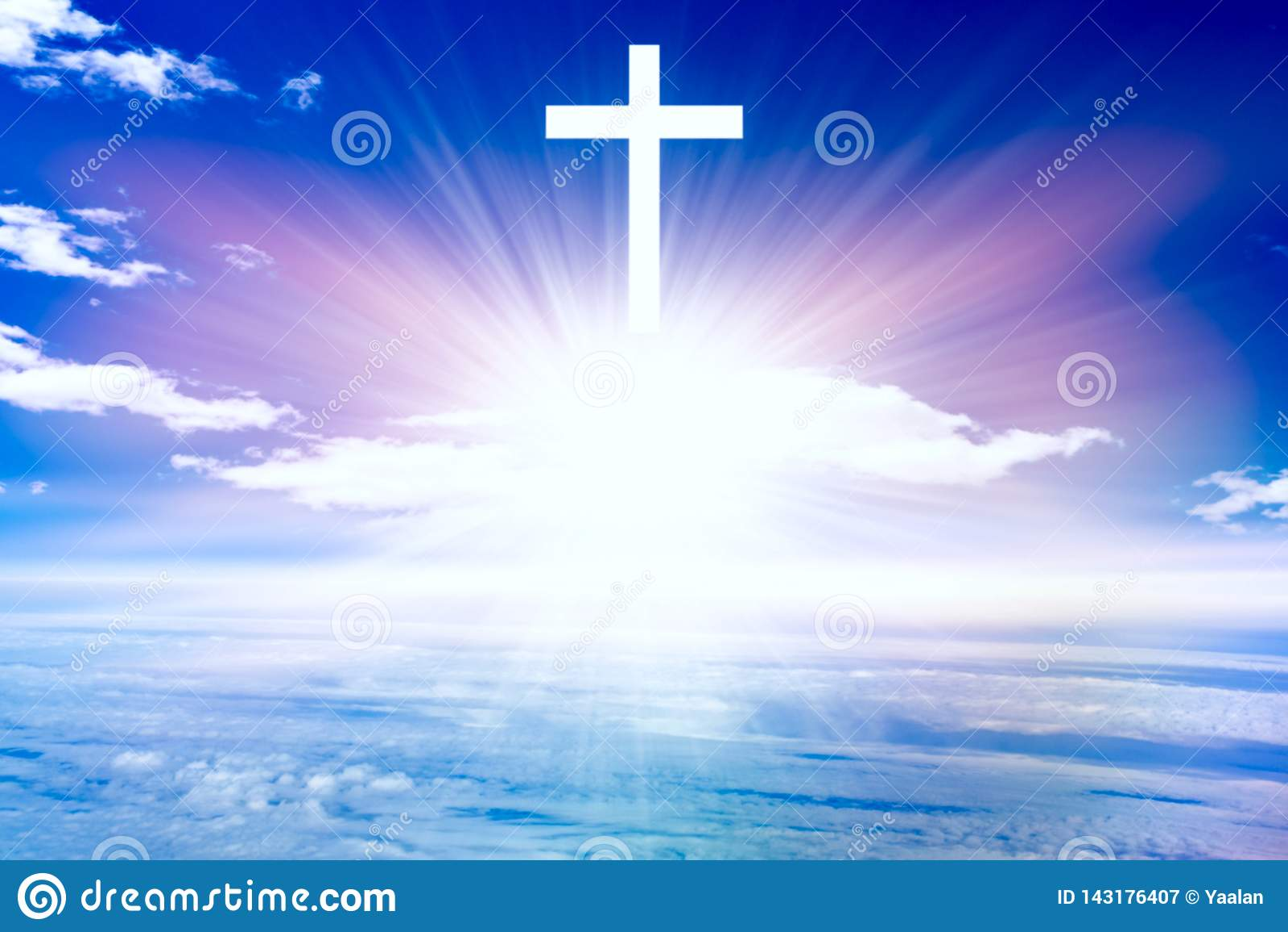 Jesus im Himmel Paradieshimmel Licht im Himmel