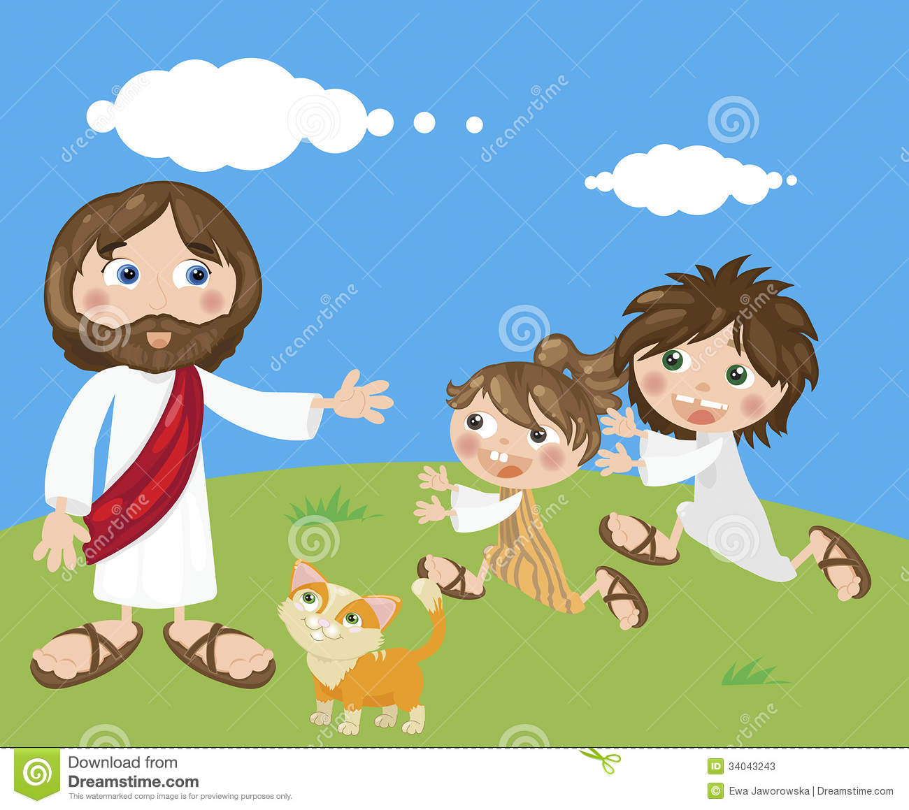 Jesus And Kids Stock Photos - Image: 34043243