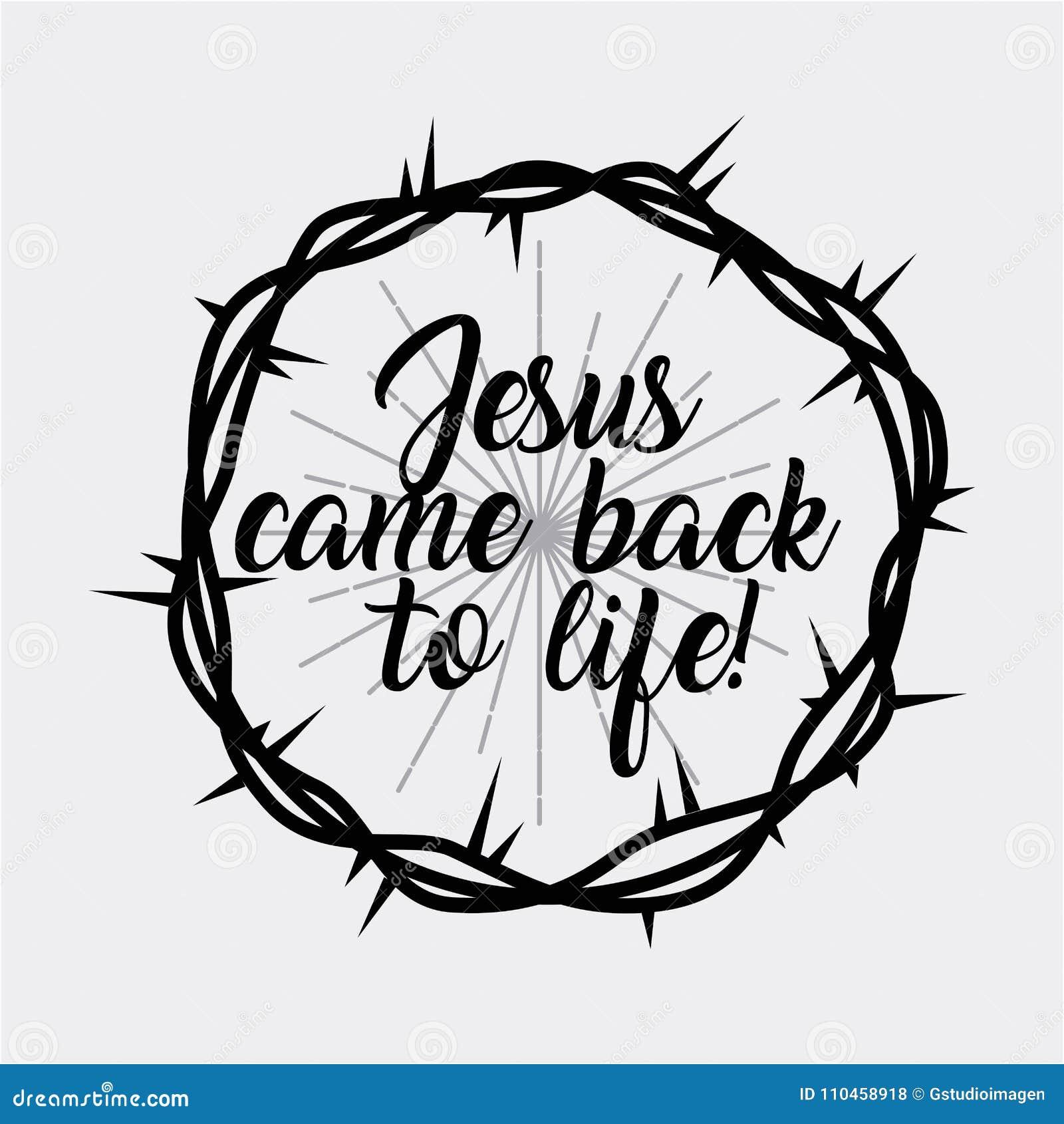 Jesus kommer tillbaka till livkronan av taggar