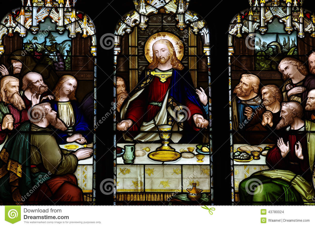 jesus at the last supper stock photo image of pain holy 43780024