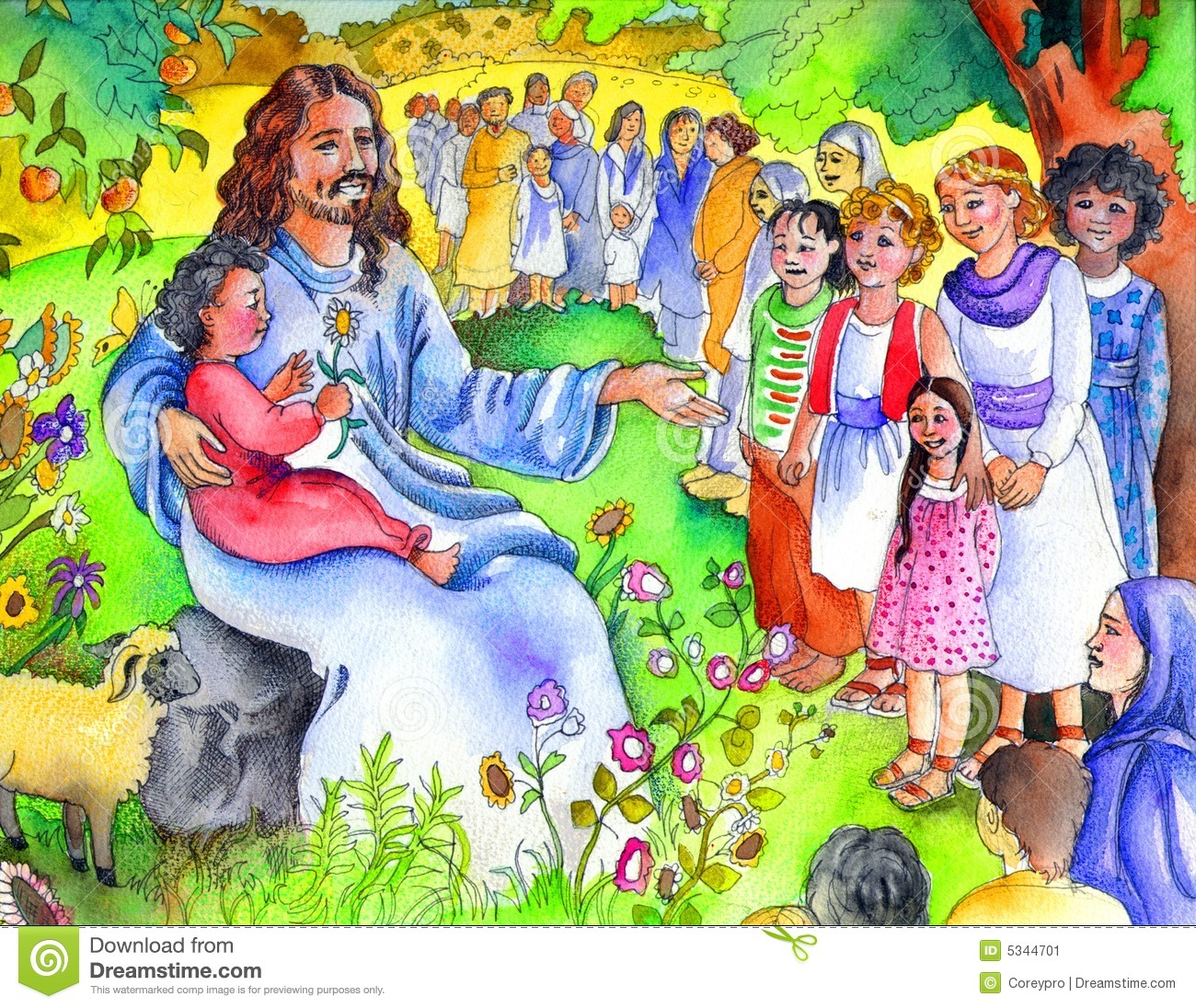 jesus with children royalty free stock photos image 19836208