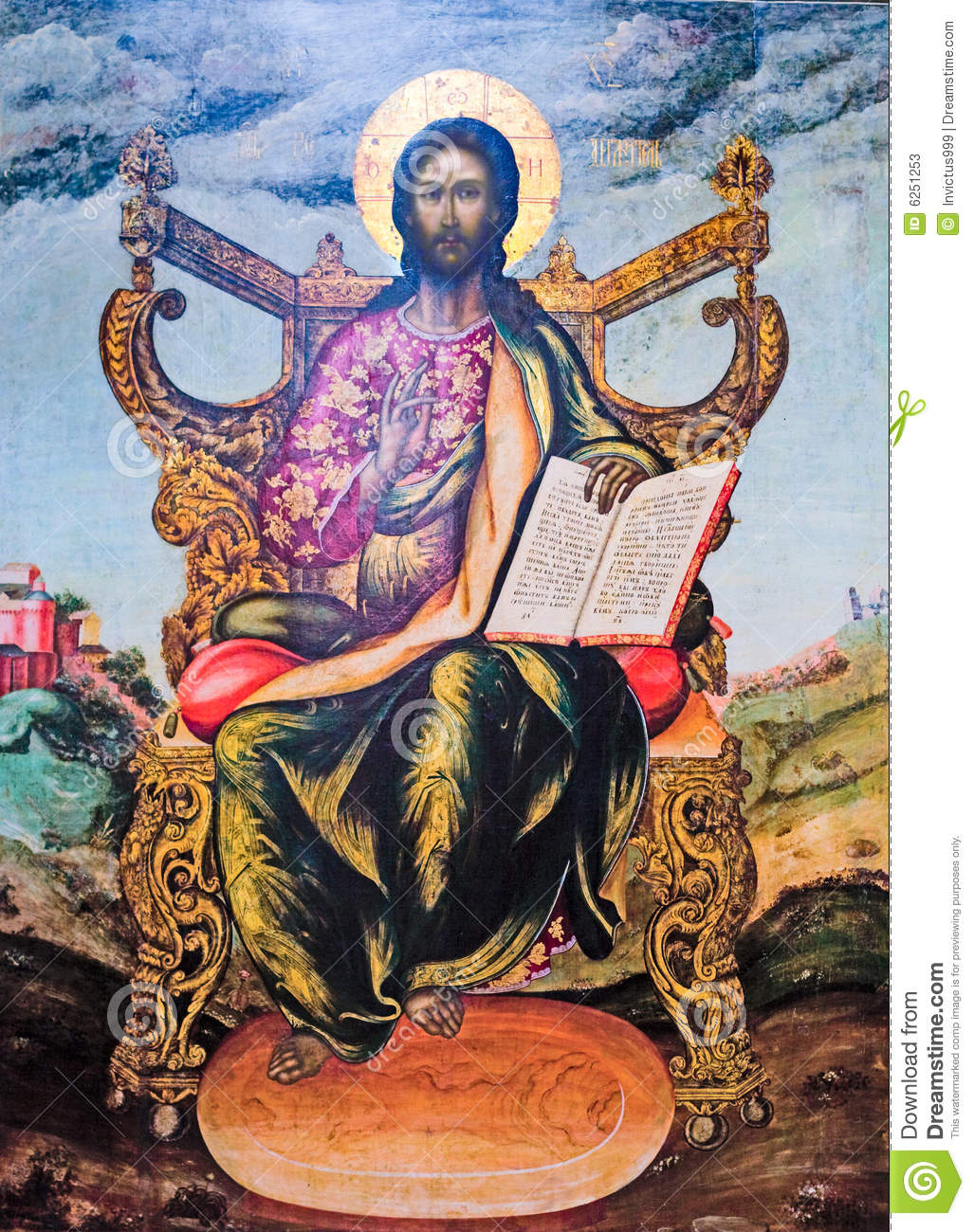 Jesus Is The Lord Ancient Icon Stock Image Image 6251253