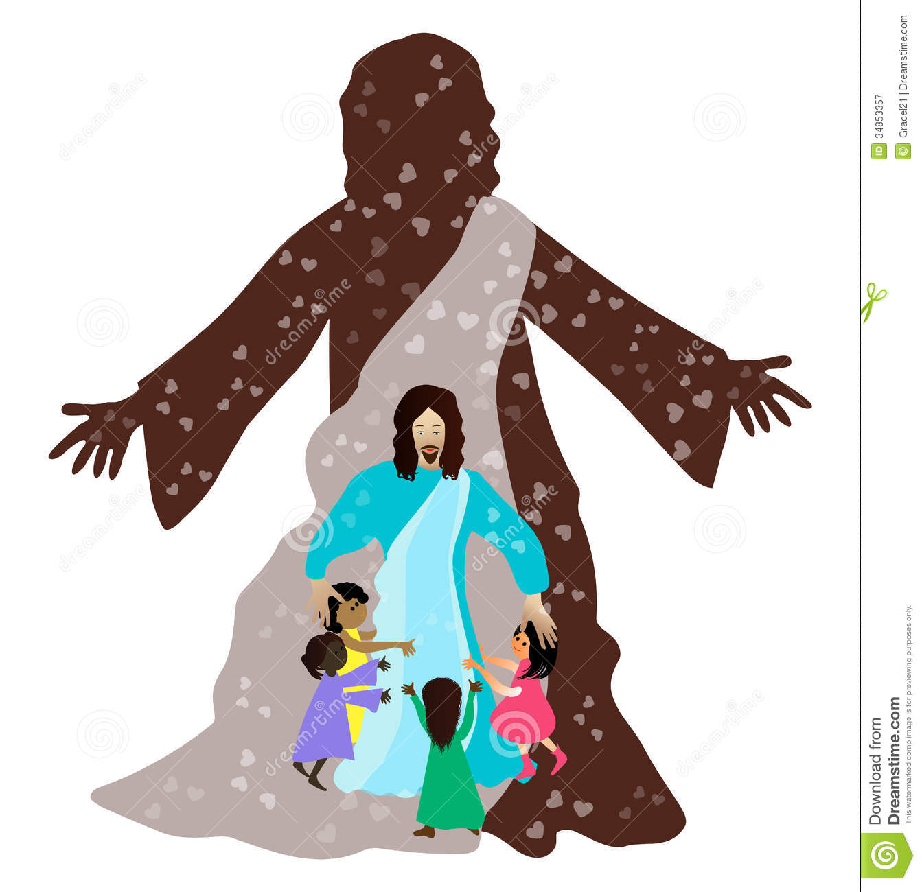 jesus and the little children bible children stock image image