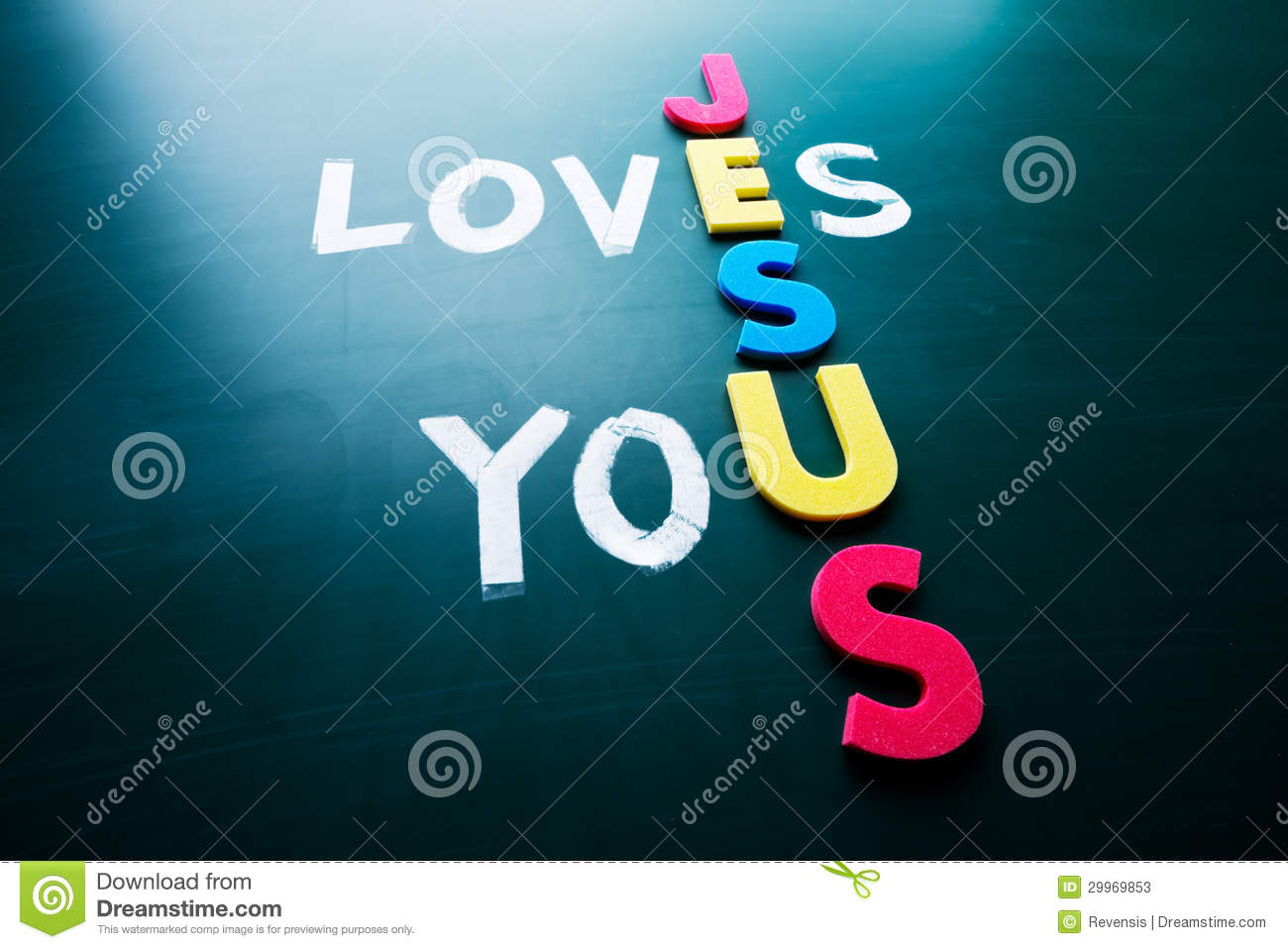 Jesus loves you stock image  Image of help, color