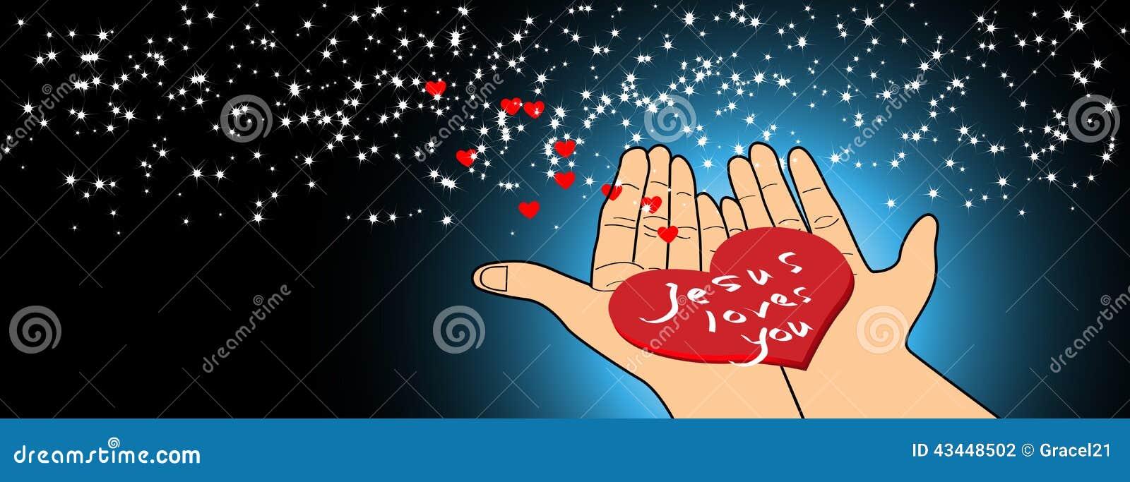 Jesus loves you stock vector. Illustration of bible, hope ...