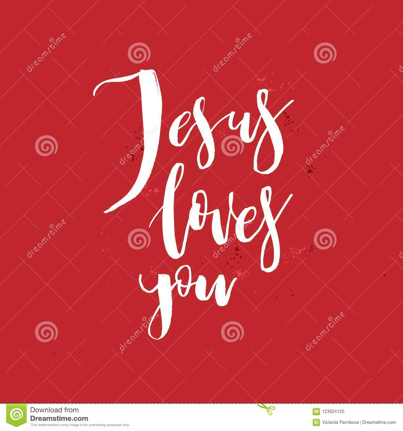 Jesus Loves You Vector Inspirational Quote About God Christ R