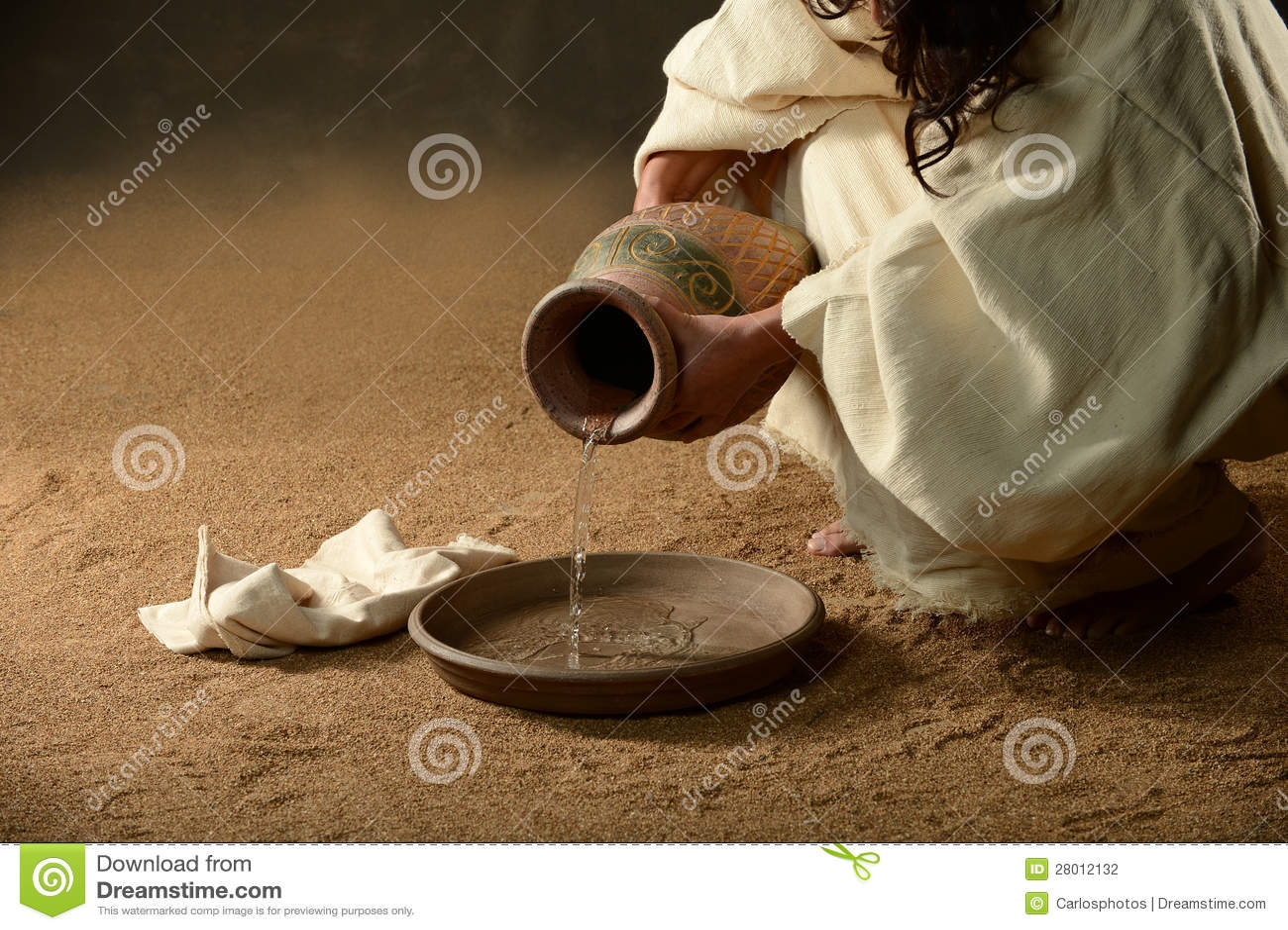 Jesus med en tillbringare av bevattnar