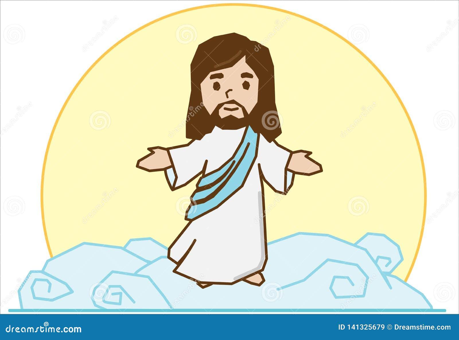 Jesus op de wolk