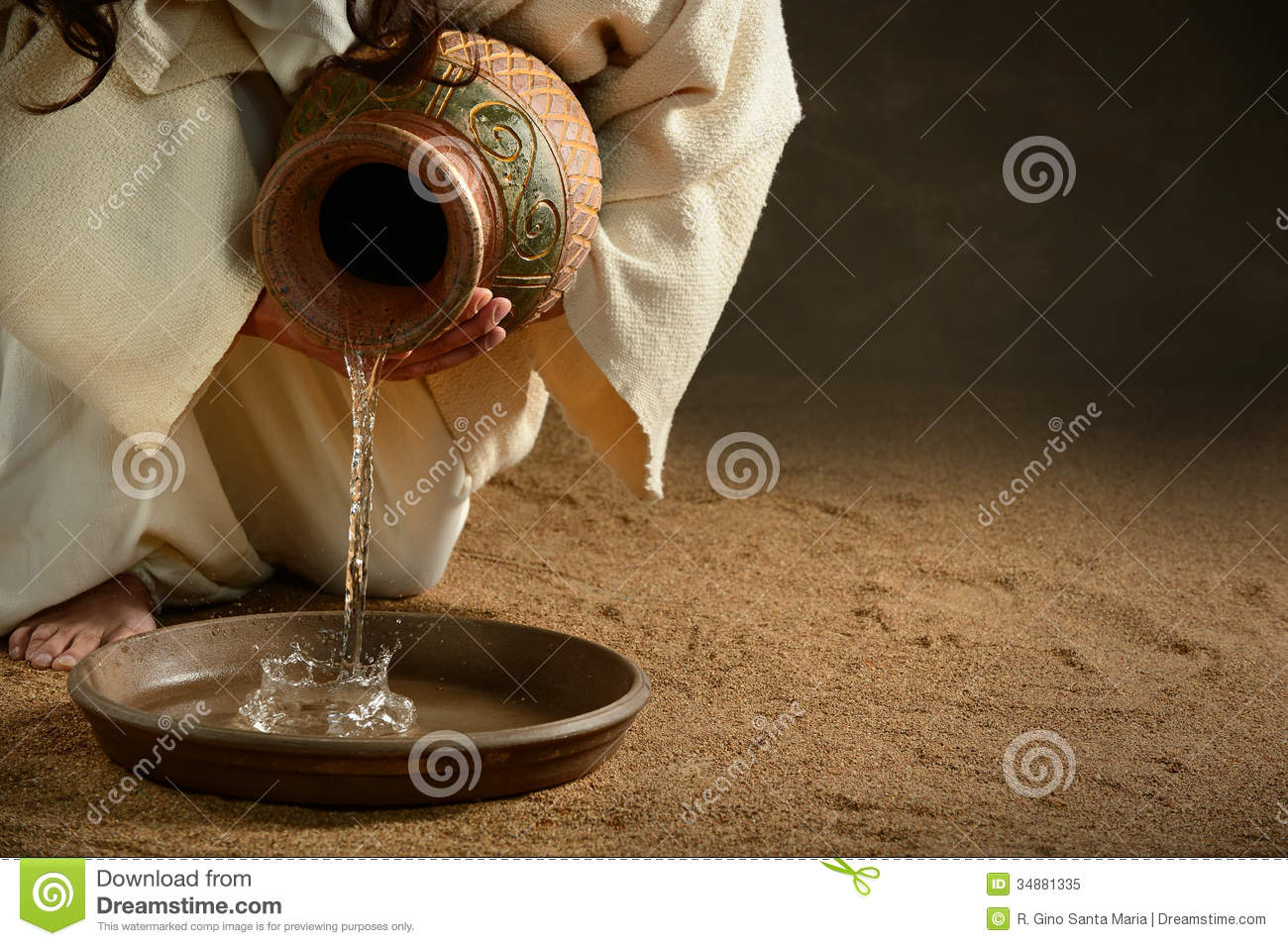 jesus pouring water royalty free stock photo image 34881335 he is risen clipart words he is risen clipart image