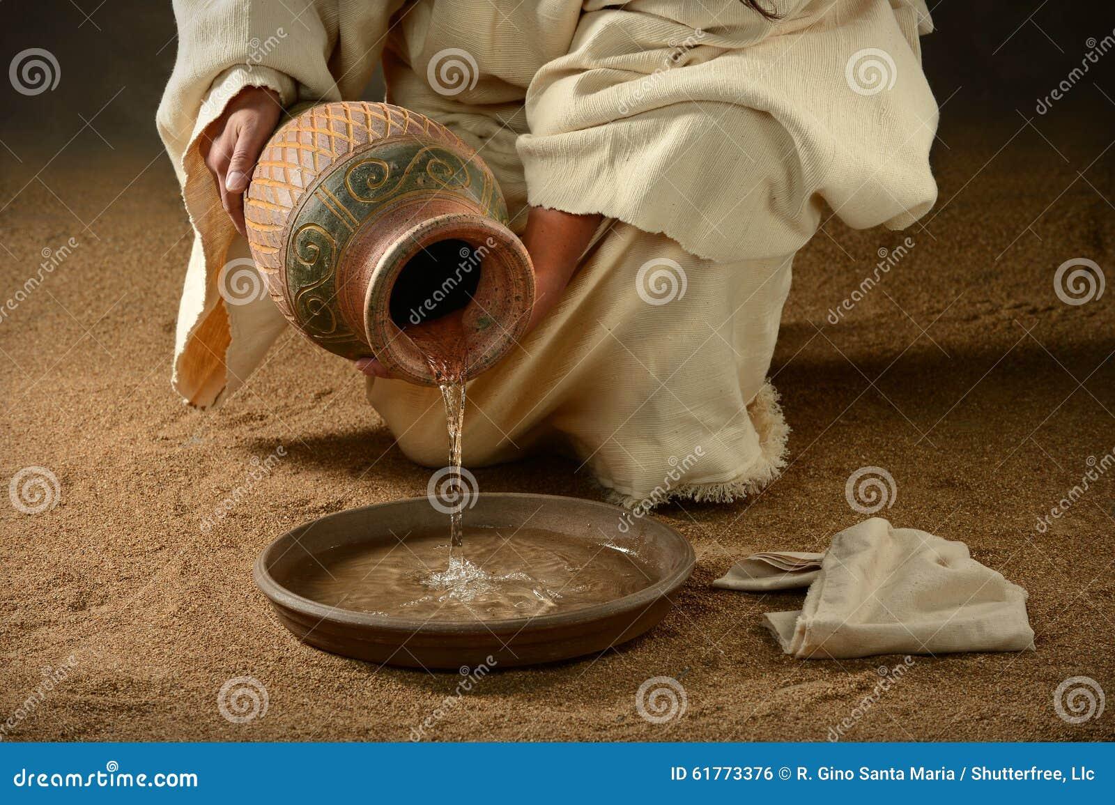 Jesus Pouring Water sur la casserole