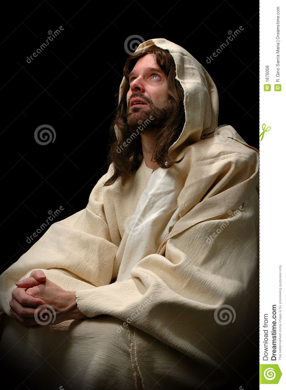 Jesus Praying Royalty Free Stock Photos - Image: 1876008