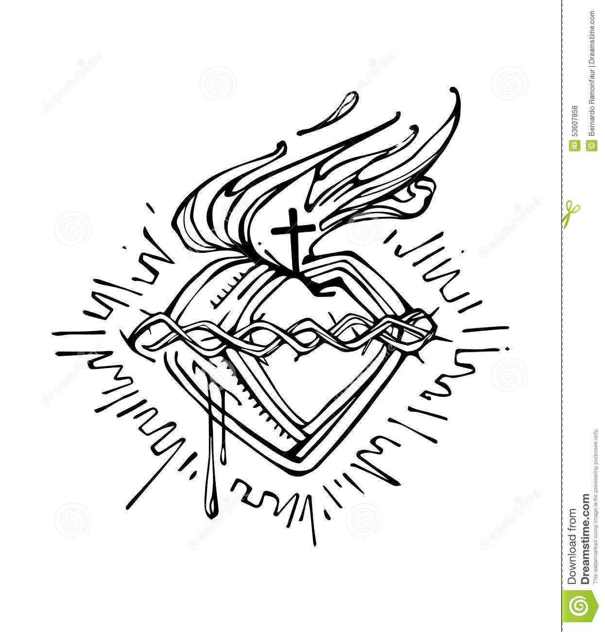 Jesus Sacred Heart G Stock Vector Illustration Of Vector