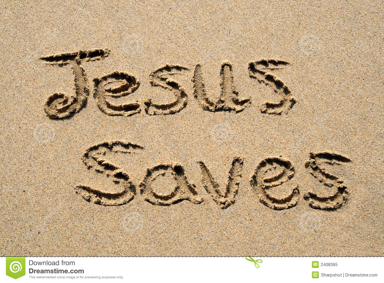 Jesus Saves. Royalty Free Stock Photo - Image: 2408365