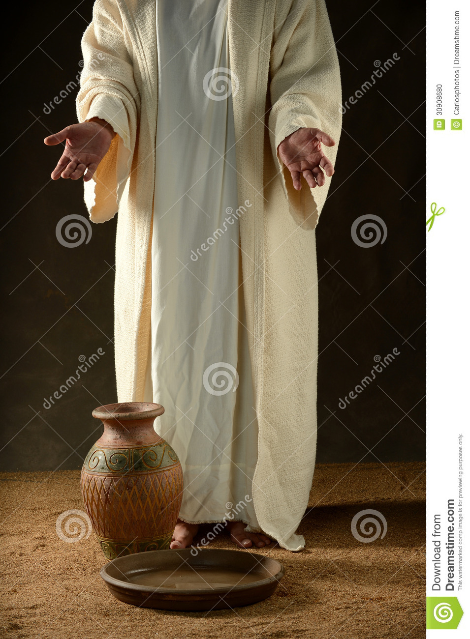 Jesus Standing Stock Photo Image Of Hands Water Faith