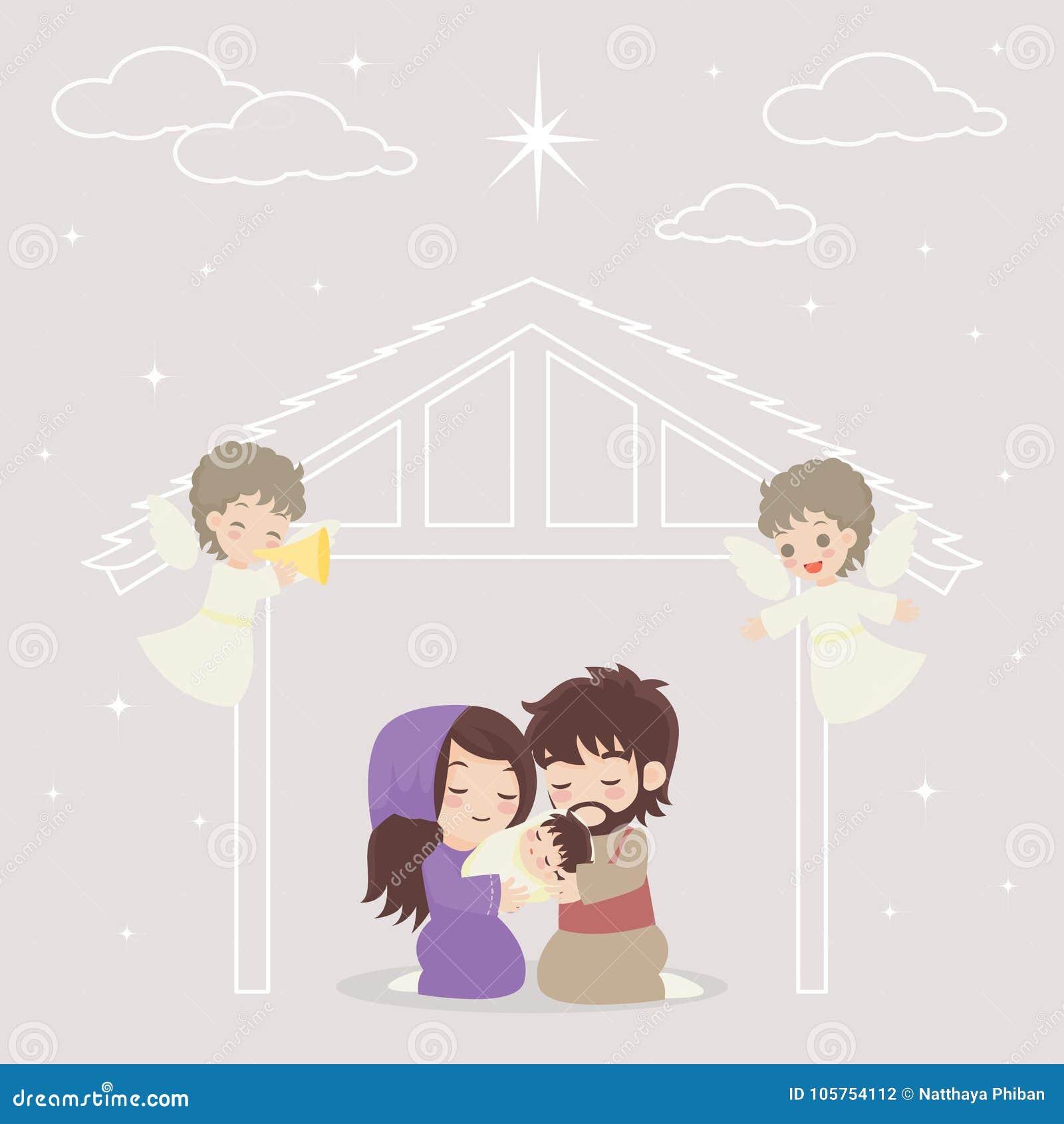 Jesus Story stock vector. Illustration of merry, design - 105754112