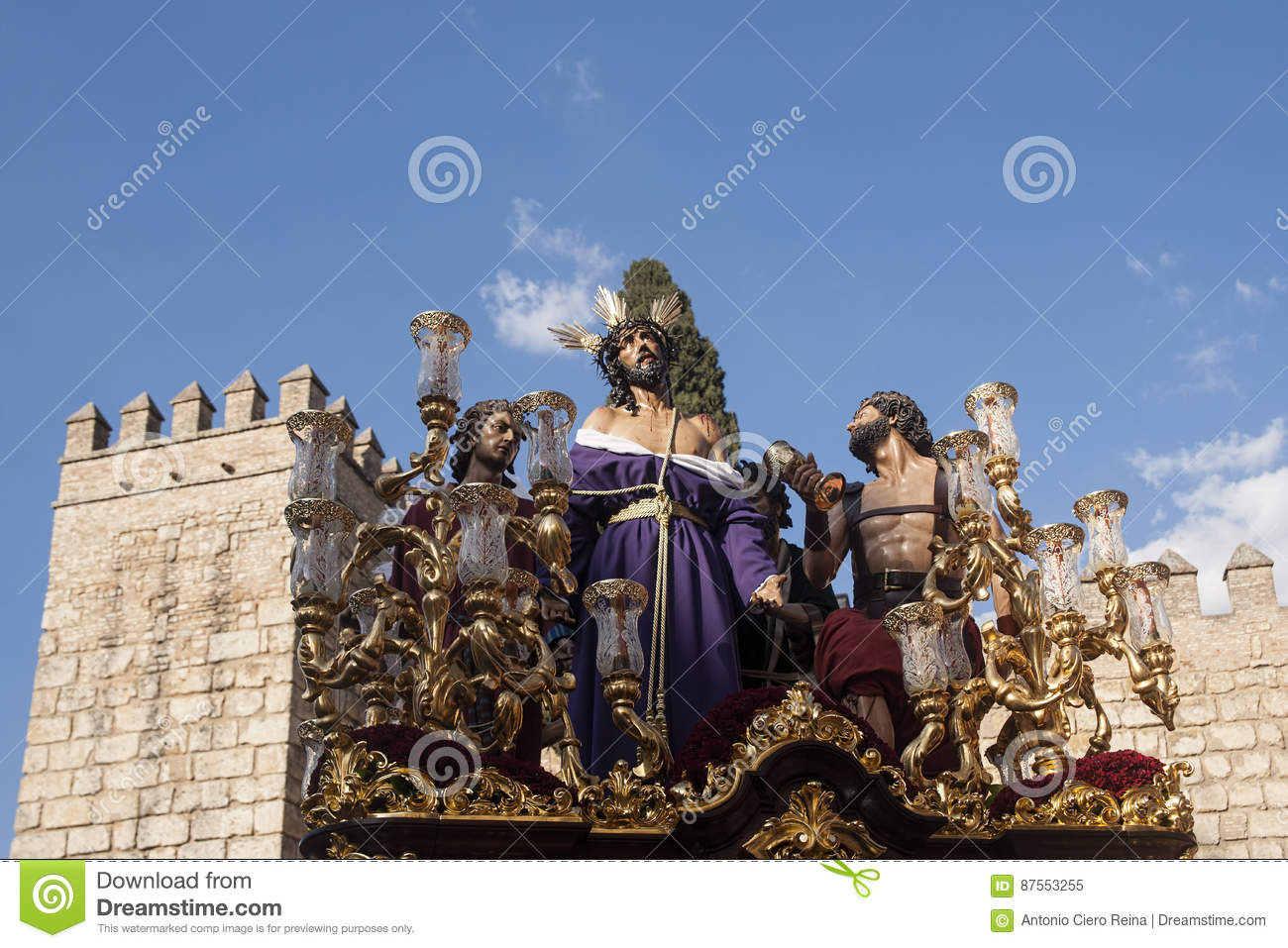 Jesus stripped of his garments, Easter in Seville