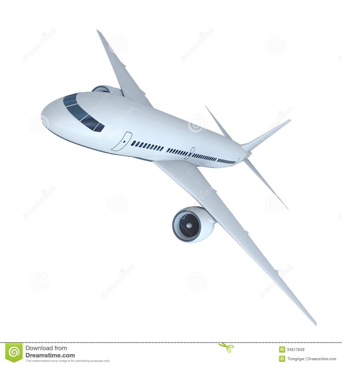 Jet airplane stock illustration. Illustration of plane ...