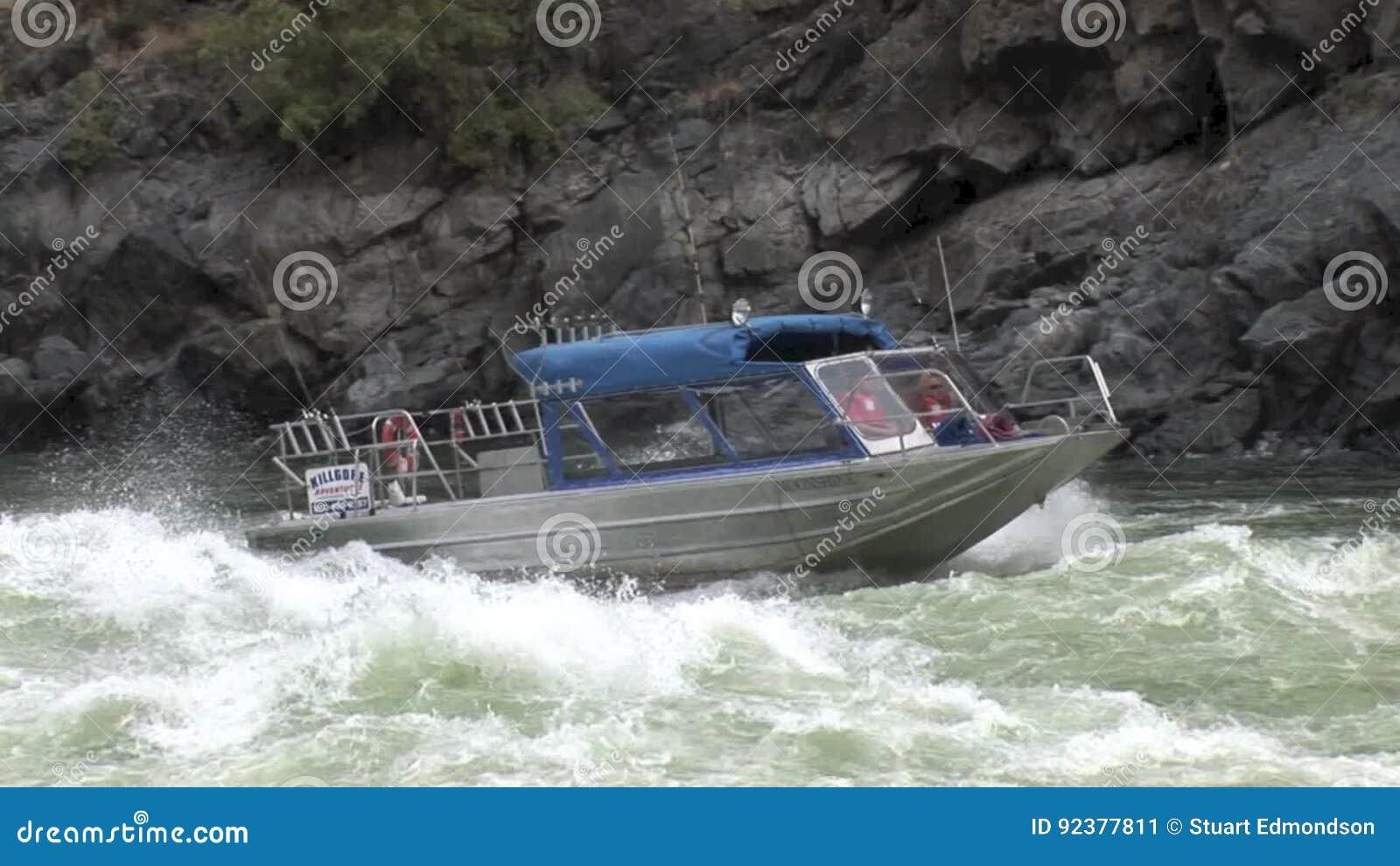 Jet Boat Running Rapids Upriver Hells Canyon Snake River Idaho