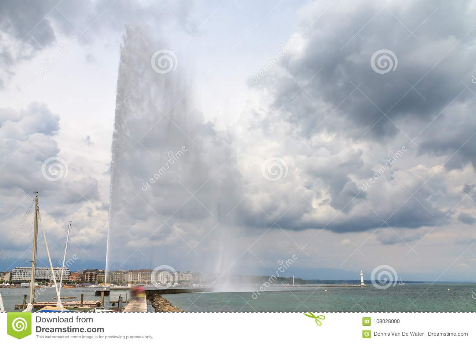 The Jet d`Eau fountain