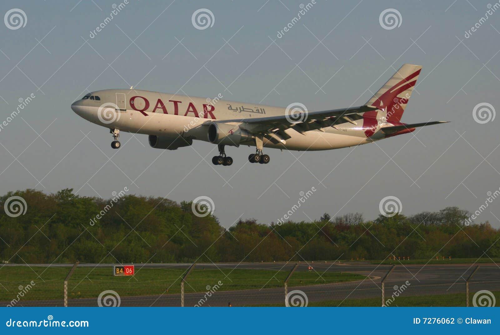 Jet de las vías aéreas de Qatar