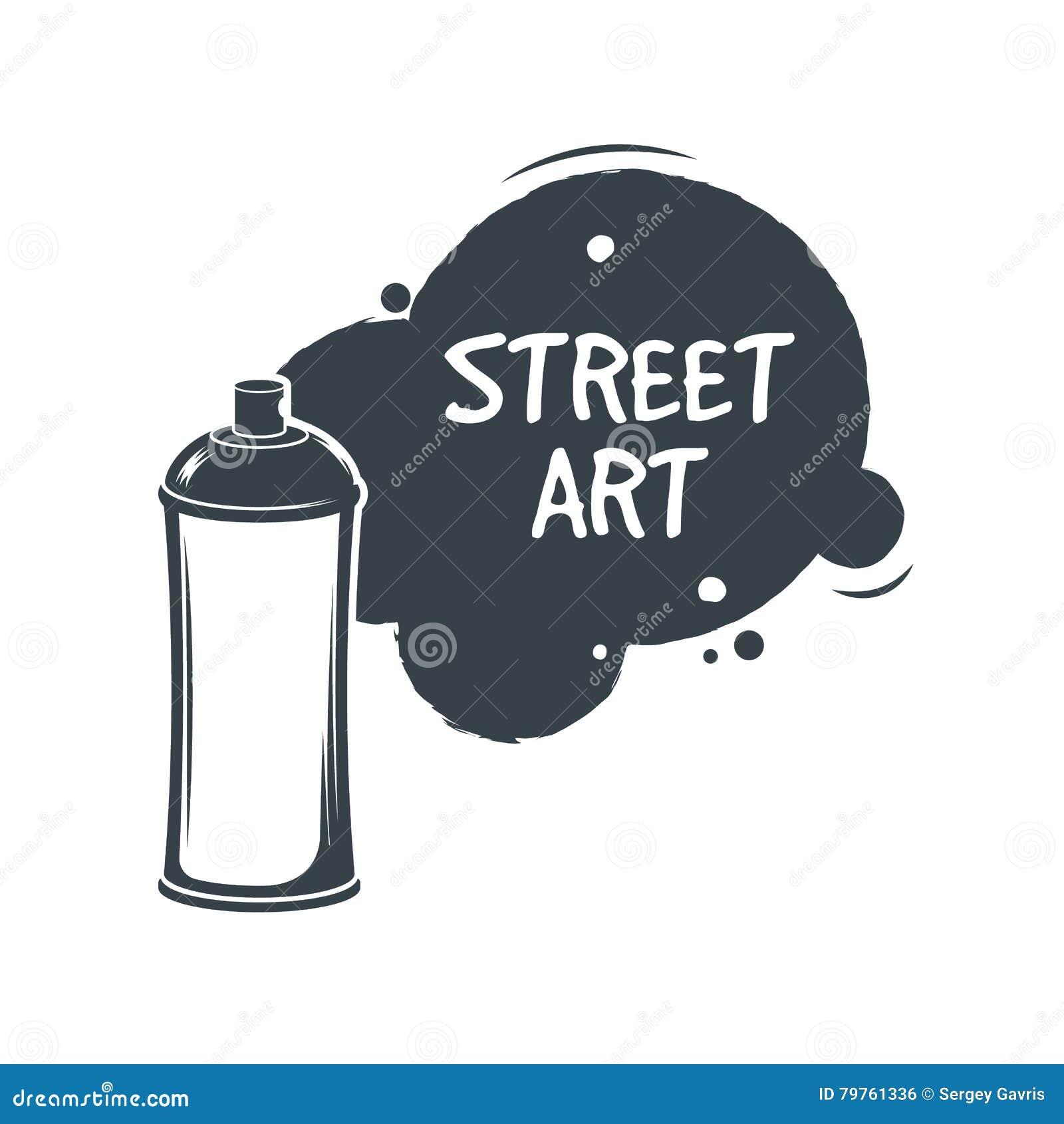 Jet de peinture de graffiti d aérosol Concept d art de Stree collant Illustration de vecteur Style de graffiti