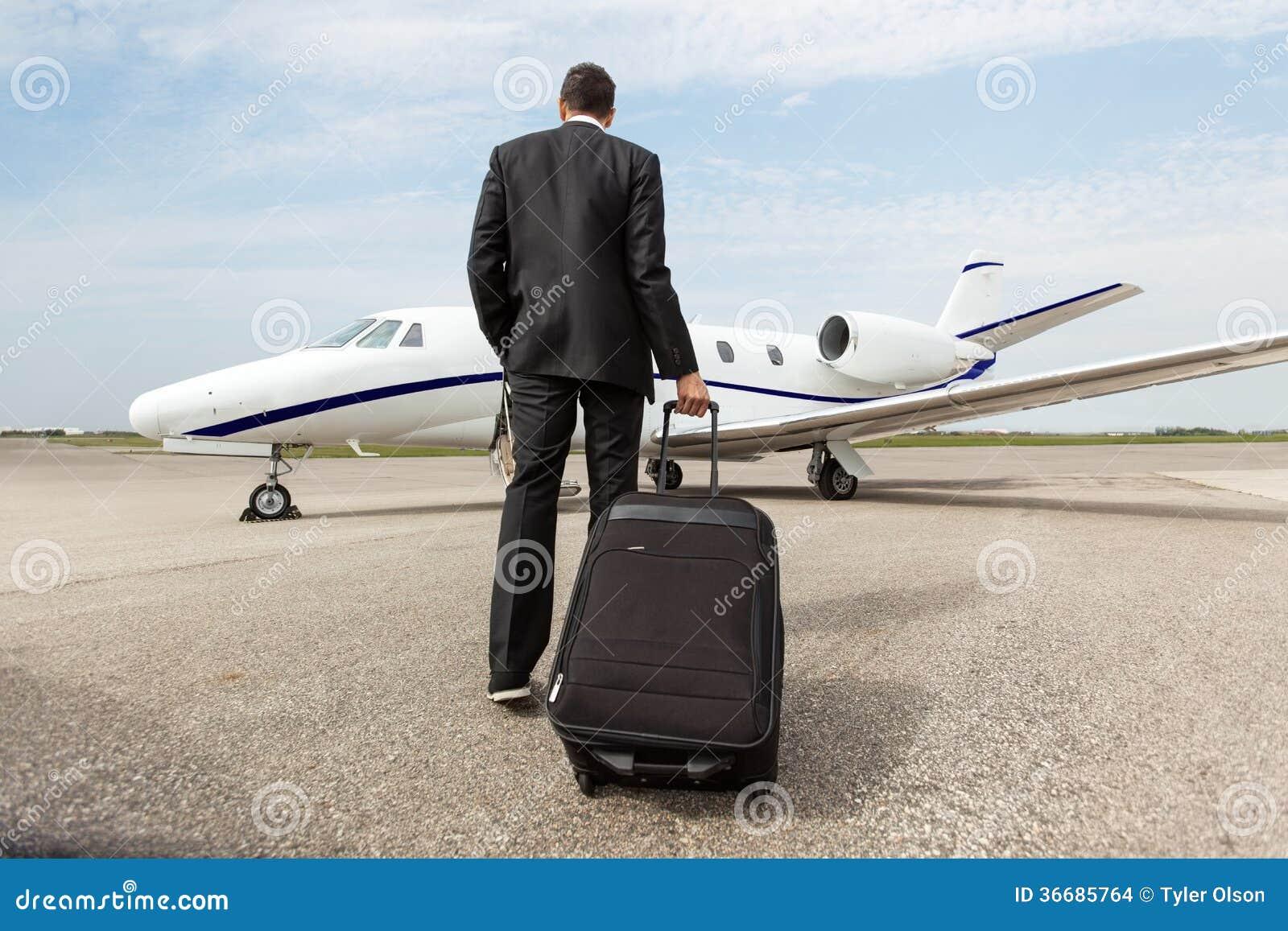 Jet de Walking Towards Corporate d homme d affaires