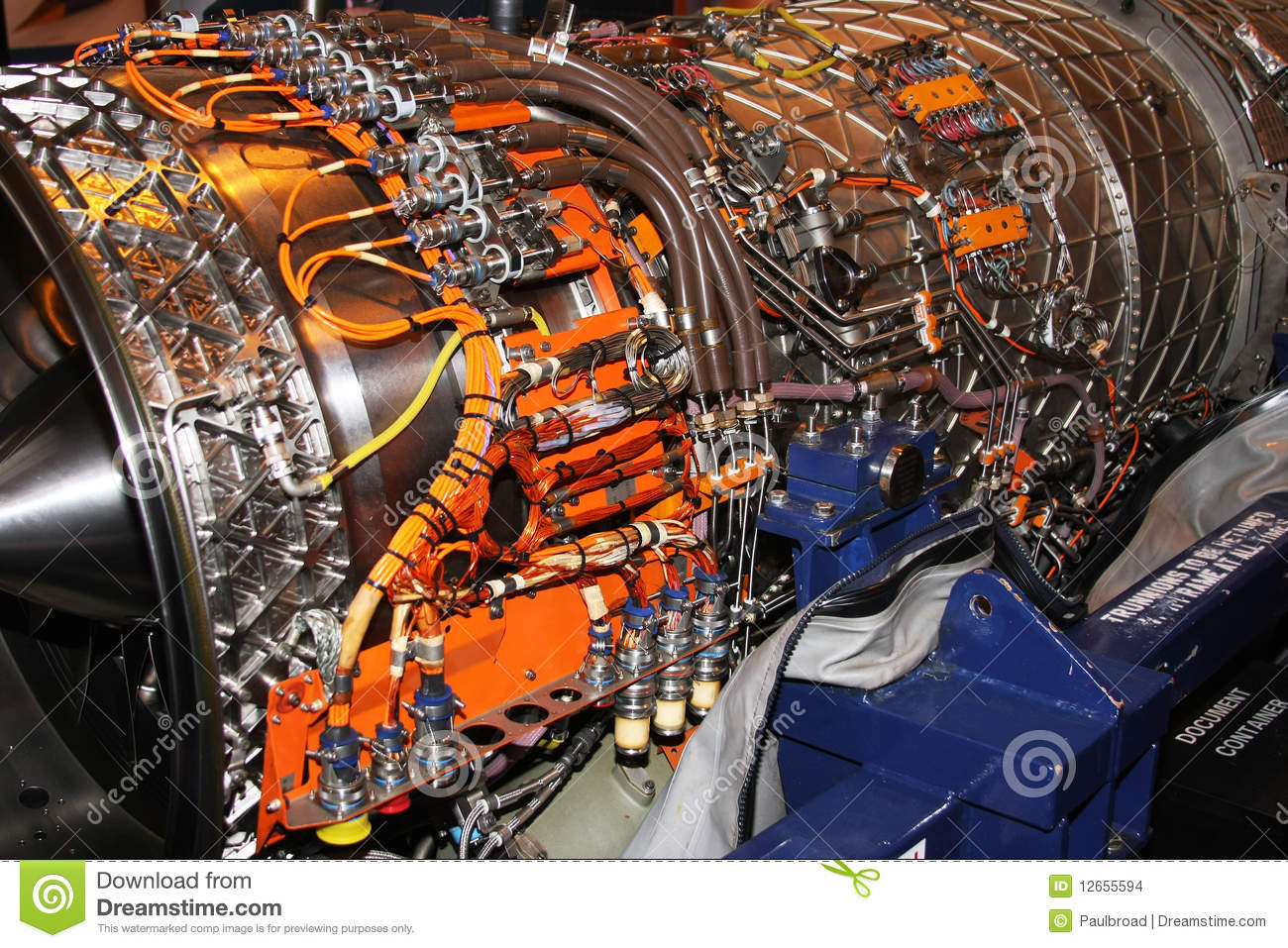 Jet Engine Stock Photo  Image Of Wiring  Engine  Cable