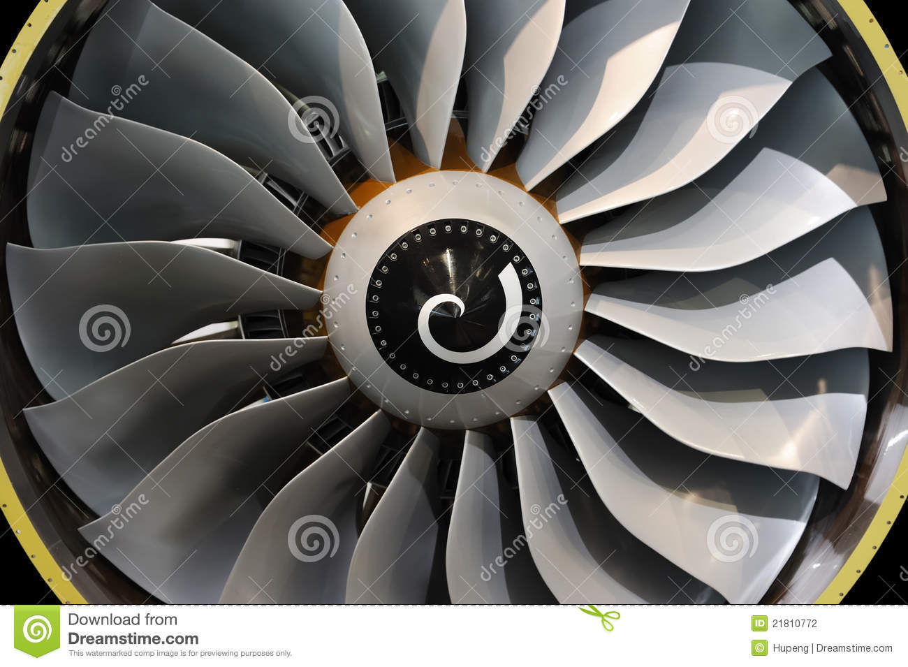 Jet Engine Fan Blades : Jet engine blades stock photo image of golden airlines