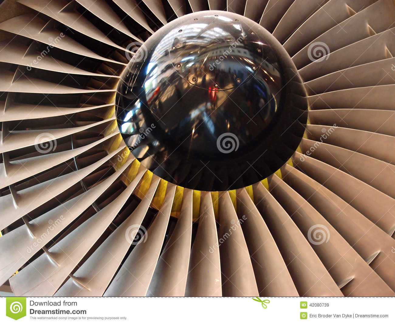 Jet Engine Fan Blades : Jet engine fan blades close up stock photo image