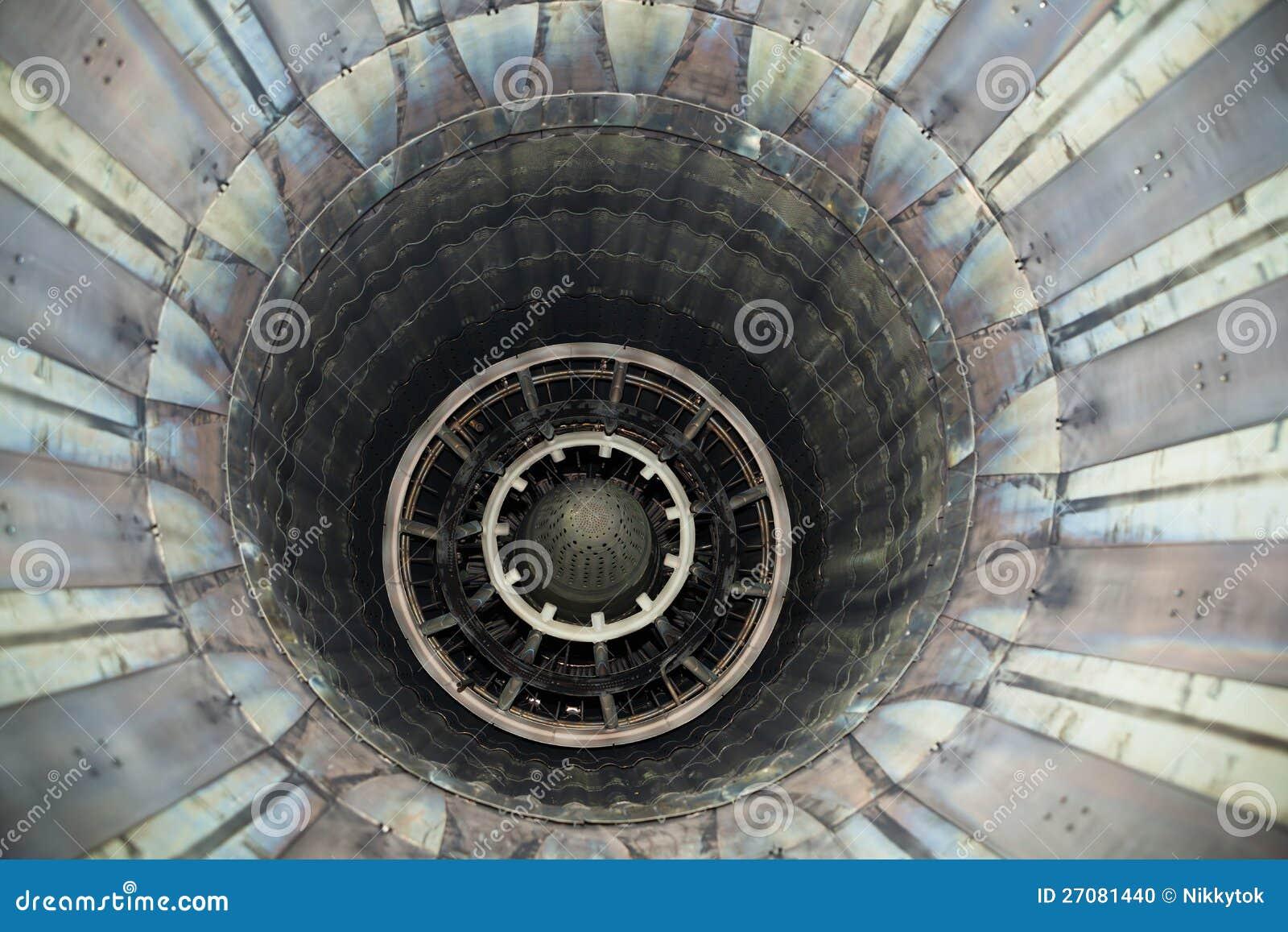 Jet engine nozzle stock photo image