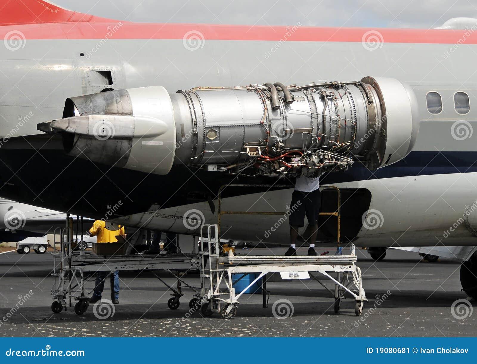 jet engine repair stock image image 19080681