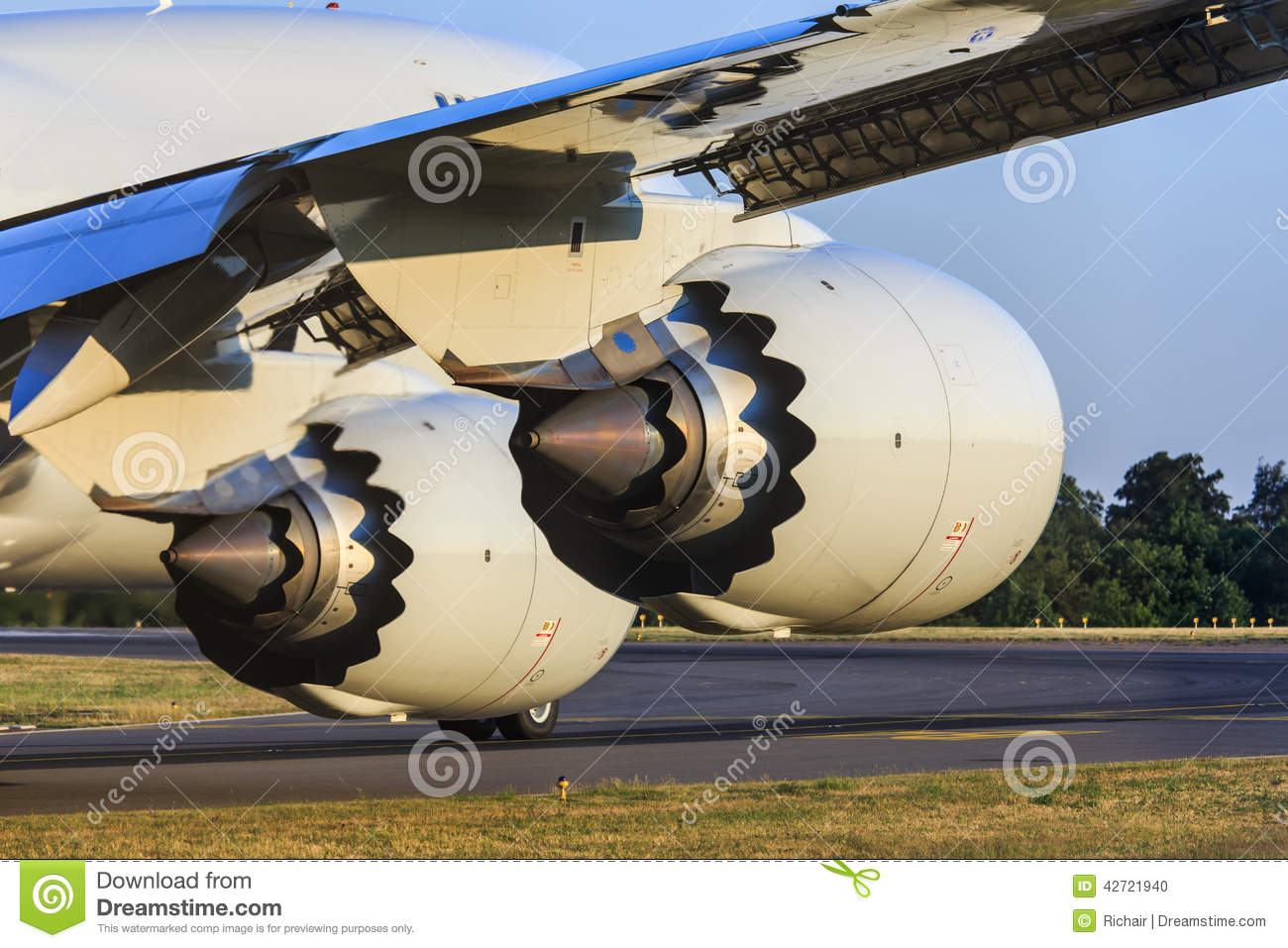 Free Flow Exhaust >> Jet Engines In Detail Stock Photo - Image: 42721940