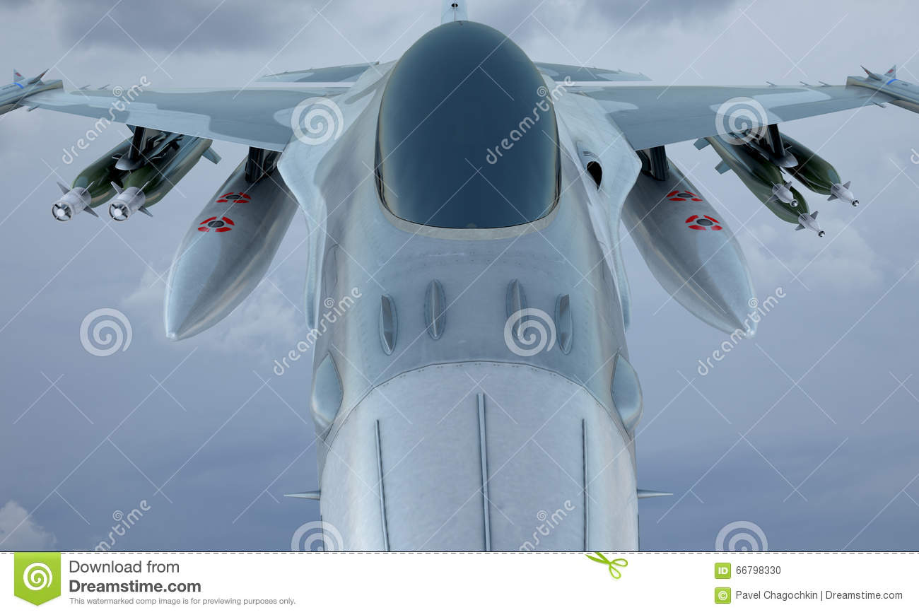 Download Jet F-16 Fly In The Sky , American Military Fighter Plane. USA Army Stock Photo - Image of navy, military: 66798330